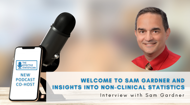 Welcome to Sam Gardner and insights into non-clinical statistics